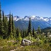 BC 002<br /> <br /> The reward for hiking the High Note Trail on Whistler Mountain is spectacular 360 degree alpine mountain views.