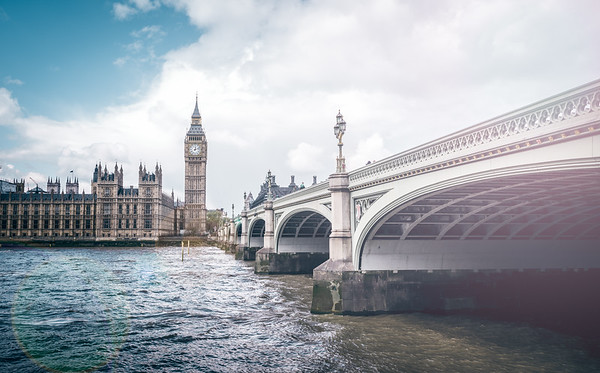 Westminster Bridge & The Houses Of Parliament.