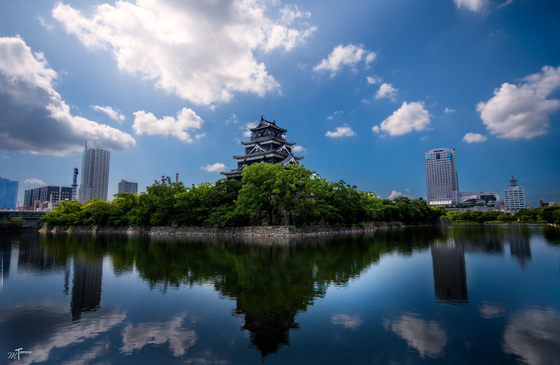 Hiroshima Caslte Reflection