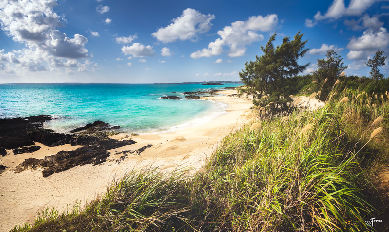 Panoramic of Sea Glass Beach