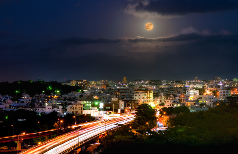 Supermoon Over Okinawa