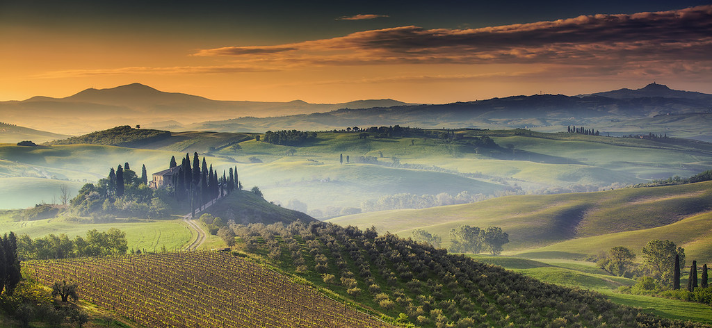 Sunrise @ Podere Belvedere, Val d'Orcia - Tuscany (Italy)