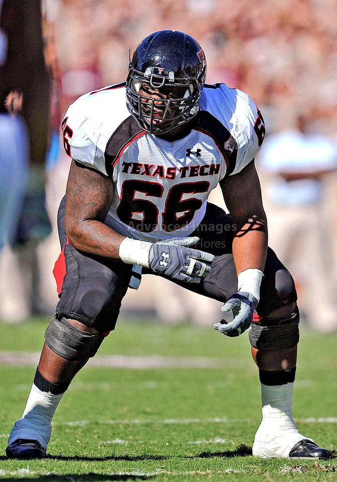 OCT 30 2010:  <br /> Texas Tech Red Raiders offensive linesman Deveric Gallington #66 in action in a game between Texas Tech Red Raiders and Texas A&M Aggies at Kyle Field Stadium in College Station, Texas.<br />  Aggies win 45-27.<br /> (Credit Image: © Manny Flores/Cal Sport Media)