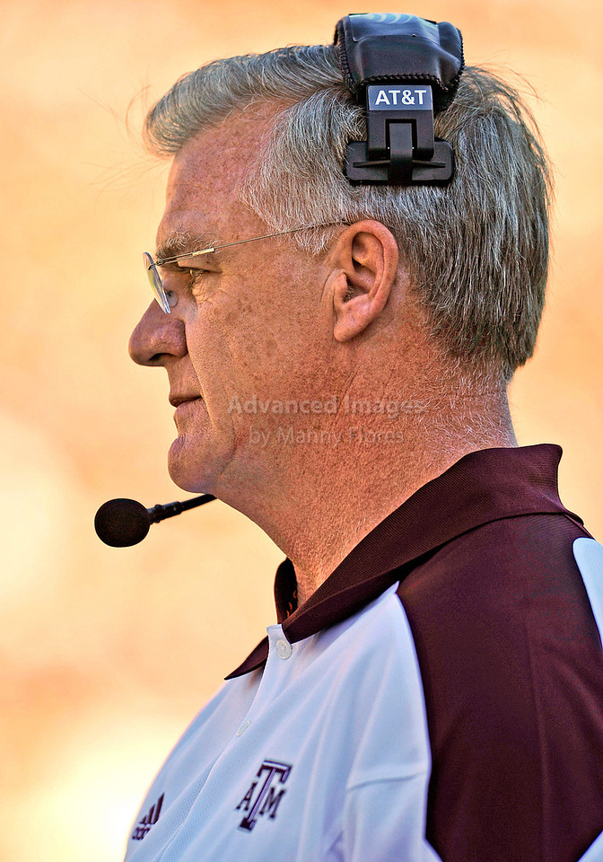 OCT 30 2010:  <br /> Texas A&M head coach Mike Sherman in action<br /> in a game between Texas Tech Red Raiders and Texas A&M Aggies at Kyle Field Stadium in College Station, Texas.<br />  Aggies win 45-27.<br /> (Credit Image: © Manny Flores/Cal Sport Media)