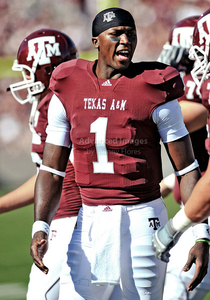OCT 30 2010:  <br /> Texas A&M Aggies quarterback Jerrod Johnson #1 is benched in place of Texas A&M Aggies quarterback Ryan Tannehill #17<br /> in a game between Texas Tech Red Raiders and Texas A&M Aggies at Kyle Field Stadium in College Station, Texas.<br />  Aggies win 45-27.<br /> (Credit Image: © Manny Flores/Cal Sport Media)