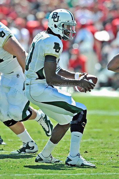 Baylor Bears quarterback Robert Griffin III #10 in action<br /> in the first quarter of their game between the Texas Tech Red Raiders and the Baylor Bears at the Cotton Bowl Stadium in Dallas, Texas.  <br /> Texas Tech wins in a shootout 45-38.