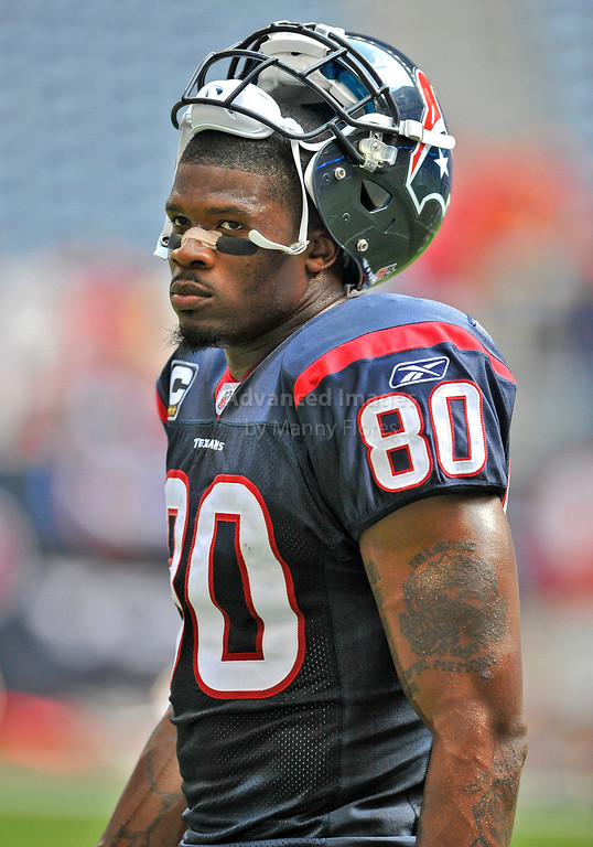 Oct 17 2010:  <br /> Houston Texans wide receiver Andre Johnson #80 in action<br /> in a game between Kansas City Chiefs and the Houston Texans at Reliant Stadium in Houston, Texas.<br /> Houston wins 35-31<br /> (Credit Image: © Manny Flores/Cal Sport Media)