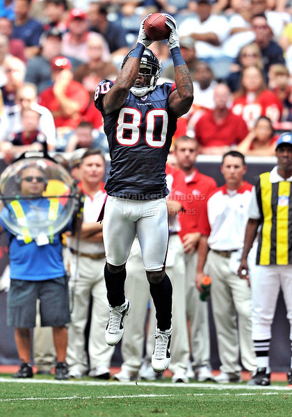 17 Oct 2010:  <br /> Houston Texans wide receiver Andre Johnson #80 catches a pass<br /> in a game between the Kansas City Chiefs and the Houston Texans at Reliant Stadium in Houston, Texas.<br /> Houston wins 35-31