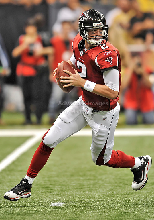 Sept 26 2010:  <br /> Atlanta Falcons quarterback Matt Ryan #2<br /> in a game between Atlanta Falcons vs New Orleans Saints at the Superdome in New Orleans, LA. <br /> Atlanta Falcons win in overtime 27-24<br /> (Credit Image: © Manny Flores/Cal Sport Media)