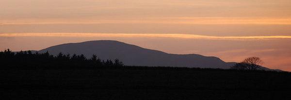 Sunset near West Linton