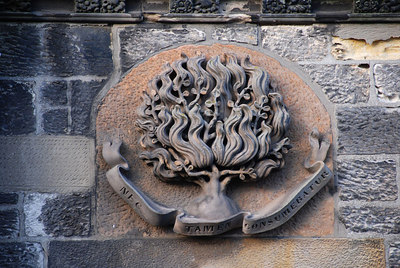 Carving on a church, North Berwick