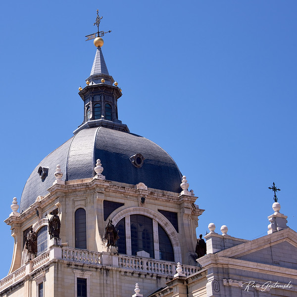 The Almudena Cathedral dome, Madrid, Spain