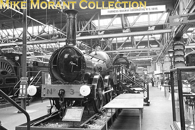 MUSEUM OF BRITISH TRANSPORT, CLAPHAM Preserved Furness Railway 0-4-0 no. 3 Coppernob in the rather cramped surroundings of the erstwhile Museum of British Transport, Clapham in September 1969. [Mike Morant]