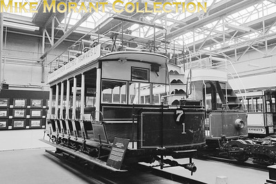MUSEUM OF BRITISH TRANSPORT, CLAPHAM Douglas Southern Electric Tramway motor car no. 1 which now resides at the Crich tramway museum in erbyshire. [Mike Morant]