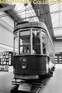 MUSEUM OF BRITISH TRANSPORT, CLAPHAM Llandudno & Colwyn Bay open top double deck tram no. 6. [Mike Morant]