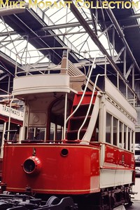 MUSEUM OF BRITISH TRANSPORT, CLAPHAM The first British electric tramcar, Blackpool no. 1, taken in 1969. [Mike Morant]