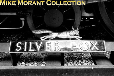 MUSEUM OF BRITISH TRANSPORT, CLAPHAM Nameplate and emblem Silver Fox formerly affixed to Gresley A4 pacific no. 60017. [Mike Morant]