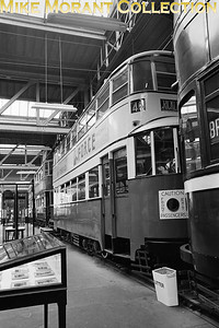 MUSEUM OF BRITISH TRANSPORT, CLAPHAM Preserved 'Feltham' tramcar no. 335 in Metropolian livery. [Mike Morant]