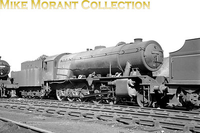 Austerity 2-10-0 no. 90766 at Motherwell mpd. [Mike Morant collection]