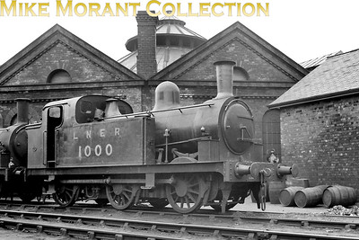 NER Wilson Worsdell designed J77 class 0-6-0T no. 1000, depicted here at York south shed where it was allocated from 1927 – 1946, was built by the NER in 1880 and survived into BR ownership. Renumbered by the LNER as 8433 in 1946, it became E8433 under BR but the full 68483 was never applied. Withdrawal came at Selby shed in May 1951. [Mike Morant collection]
