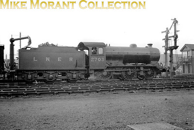 LNER Gresley designed J39/1 class 0-6-0 no. 2703 in the late 1930's. 2703 was built at Darlington works in 1928 and would be renumbered 4756 by The LNER in 1946. The BR '6' refix was applied in June 1949 and withdrawal as 64756 came at Ardsley mpd in December 1962. [Mike Morant collection]
