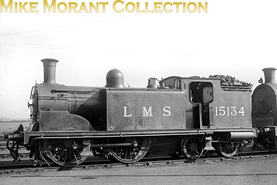 LMSR former Caledonian McIntosh designed '92' class 0-4-4T no. 15134 at Grangemouth shed in June 1926. Built at St. Rollox in 1897, 15134 would be withdrawn as BR no. 55134 at Motherwell mpd on 30/4/51. [Mike Morant collection]