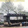 Antwerp ballast tram no. 8821 photographed in its working environment during April 1966. It was  built in 1931 according to the note on the slide mount but more background information from viewers would be appreciated including the location.<br> [<i>Mike Morant collection</i>]
