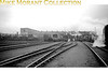 A panoramic view of Exmouth Junction shed in the early 1950's. The only identifiable loco is the leftmost Bulleid pacific, 34025 <i>Whimple</i>, which was an EJ engine from new in May 1947 until May 1957.<br> [<i>Mike Morant collection</i>]