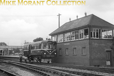 BR Wickham built railbus SC79969 alongside Lapworth signal box. This is neither dated or very sharp but is probably quite a scarce image nonetheless. [Mike Morant collection]