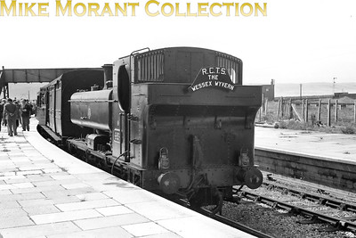 RCTS: Wessex Wyvern 8/7/56 GWR Collett 5700 class pannier tank no. 4624 at Portland station which had closed to passenger traffic on March 3rd, 1952. This return trip was hauled throughout by 4624 which was a Weymouth allocated engine from March 1954 until August 1963. [Mike Morant collection]