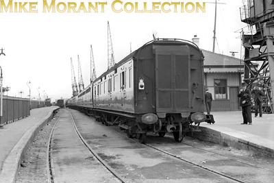 RCTS: Wessex Wyvern 8/7/56 The rear end of the mainline stock after arrival at Weymouth Quay station. [Mike Morant collection]