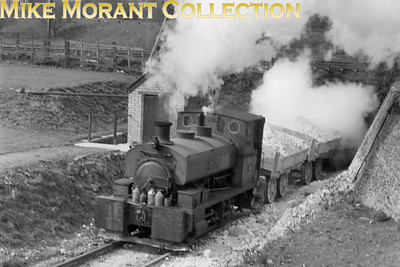 Andrew Barclay 0-4-0ST no. 11 BALDAR, works no. 714, was delivered new to R B Byass & Co. Ltd, Sheet Works, Port Talbot Glamorgan in 1893 and was acquired by BPCM Wouldham Works, West Thurrock via George Cohen, Port Talbot. BALDAR was scrapped on site by W Rice, Slade Green, Kent c 1961. This shot was taken just to the west of West Thurrock Jct. in April 1953 and shows BALDAR having just exited the tunnel under the LT&SR line from Tilbury to Barking via Purfleet. Information for this shot was supplied by the IRS Yahoo group for which my grateful thanks. [Mike Morant collection]