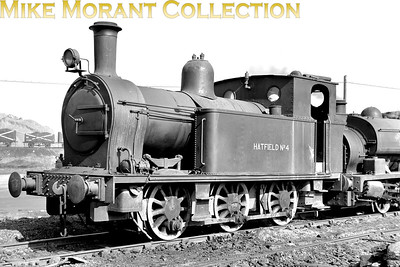 An undated view of Hatfield colliery (Doncaster) 0-6-0T no. 4. Avonside 1448 of 1902. Formerly named Great Mountain on the Llanelly & Mynydd Mawr Railway, then GWR 944. Sold 1929. Scrapped 1968 (reference: Mainline to Industry by Frank Jones). [Mike Morant collection]