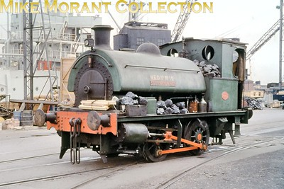 Hawthorn Leslie 0-4-0ST Singapore, built in 1936 with works no. 3865, at work in Chatham dockyard on 8/7/61. [Mike Morant collection]