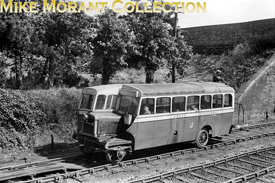 Great Northern Railway (Ireland) railbus no. 1 of 1934 vintage leaves the branch terminus at Oldcastle for Drogheda on 12/6/52. These railbuses had been the mainstay on the branch's passenger sertvices and would remain so until the branch was closed to passenger traffic in April 1958. Goods traffic would continue until 1963. It's worth mentioning that the station building and wooden train shed are apparently extant and in a good state of repair. [Mike Morant collection]