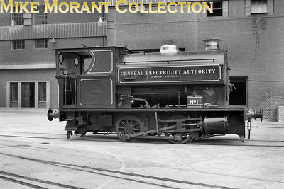 CEGB  - Central Electricity Authority London division - 0-4-0ST no. 1, Avonside 2002/1930, at Battersea in 1959. It was sold in 1964 to E.L. Pitt & Co. of Canning Town and scrapped there in November 1964. [Mike Morant collection]