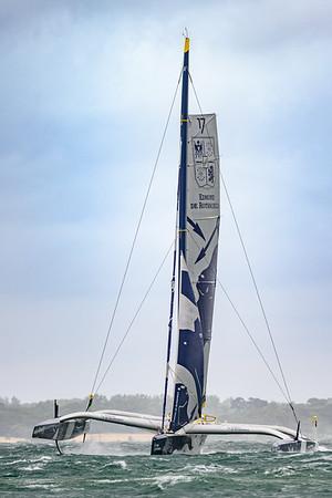 Maxi 'Edmond de Rothschild'. Fastnet 2021, Solent, UK