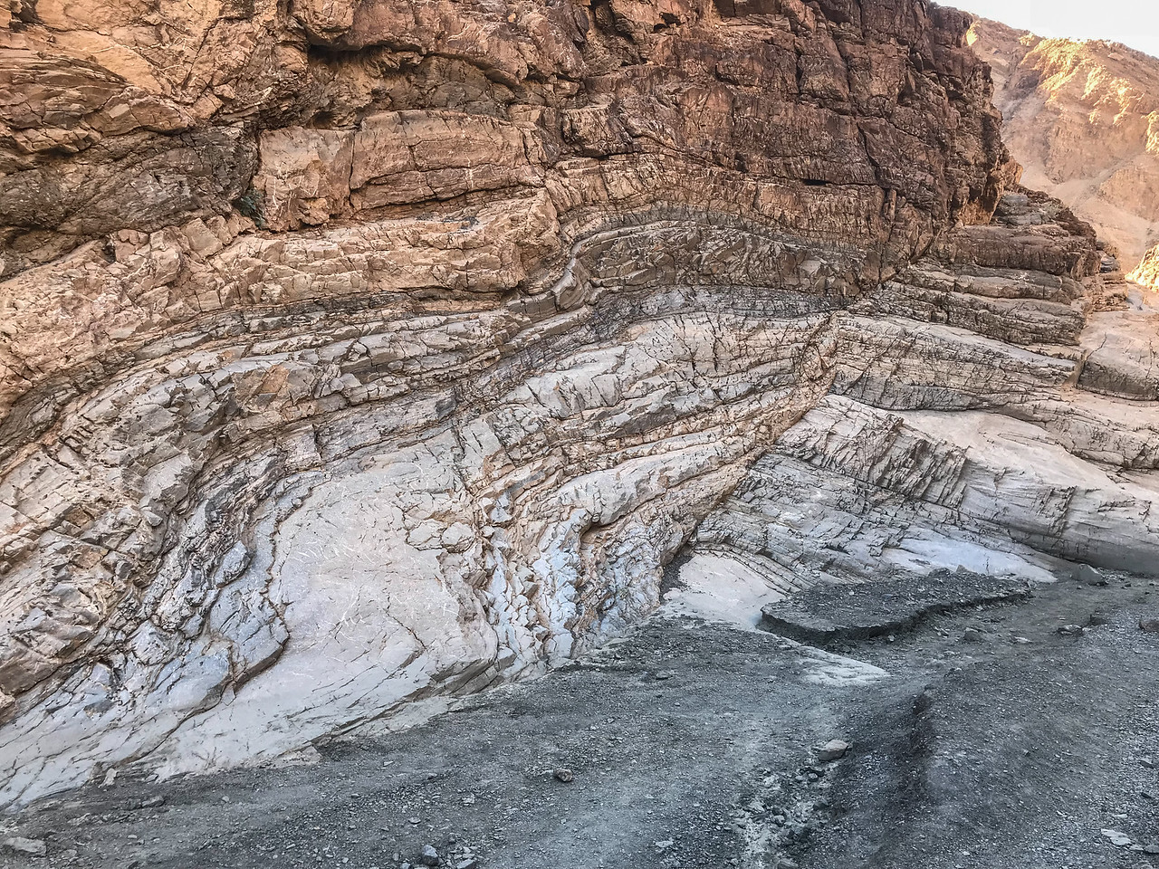 Fascinating Geology on Mosaic Canyon Trail