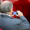 A fan takes a photo prior to the Vanarama Conference Premier match between Aldershot Town and Eastleigh at the EBB Stadium Aldershot (photo by Paul Paxford/Pitchside Photo)