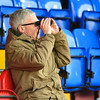 A supporter gets a better view prior to the Vanarama Conference Premier match between Aldershot Town and Eastleigh at the EBB Stadium Aldershot (photo by Paul Paxford/Pitchside Photo)