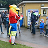 A mascot greets supporters priors to the Vanarama Conference Premier match between Aldershot Town and Eastleigh at the EBB Stadium Aldershot (photo by Paul Paxford/Pitchside Photo)