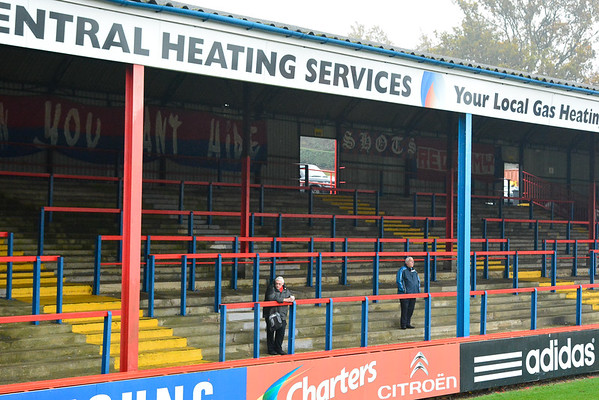 Early arrivals prior to the Vanarama Conference Premier match between Aldershot Town and Eastleigh at the EBB Stadium Aldershot (photo by Paul Paxford/Pitchside Photo)