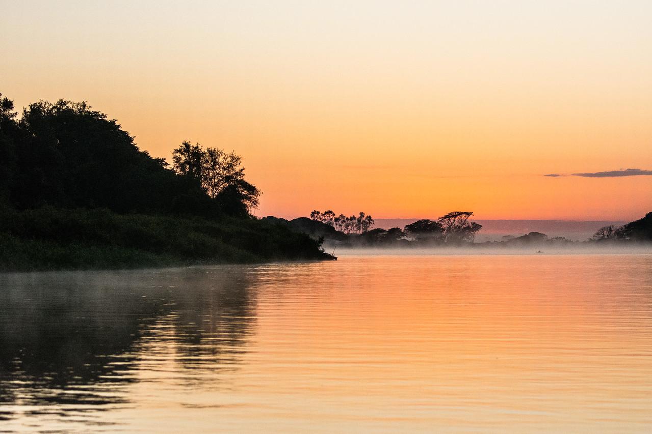 Misty Sunrise on the Cuiaba River