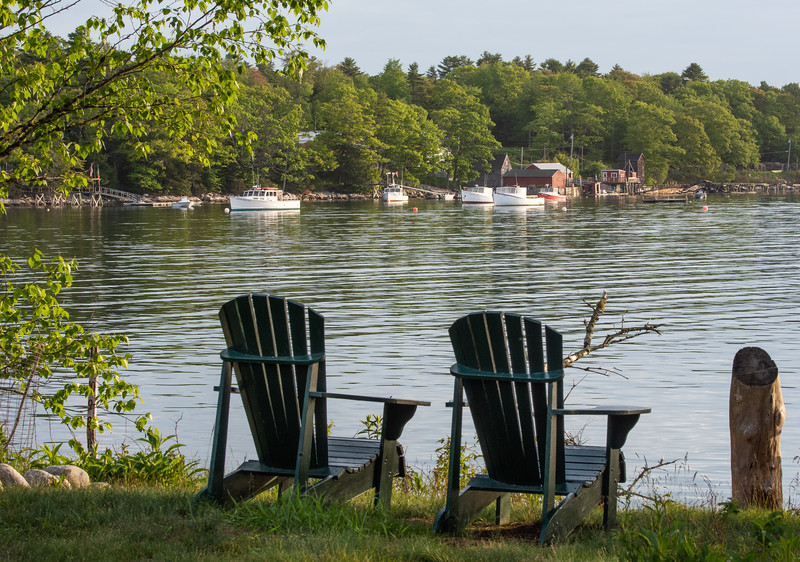 The View of Bremen, Maine from Hog Island