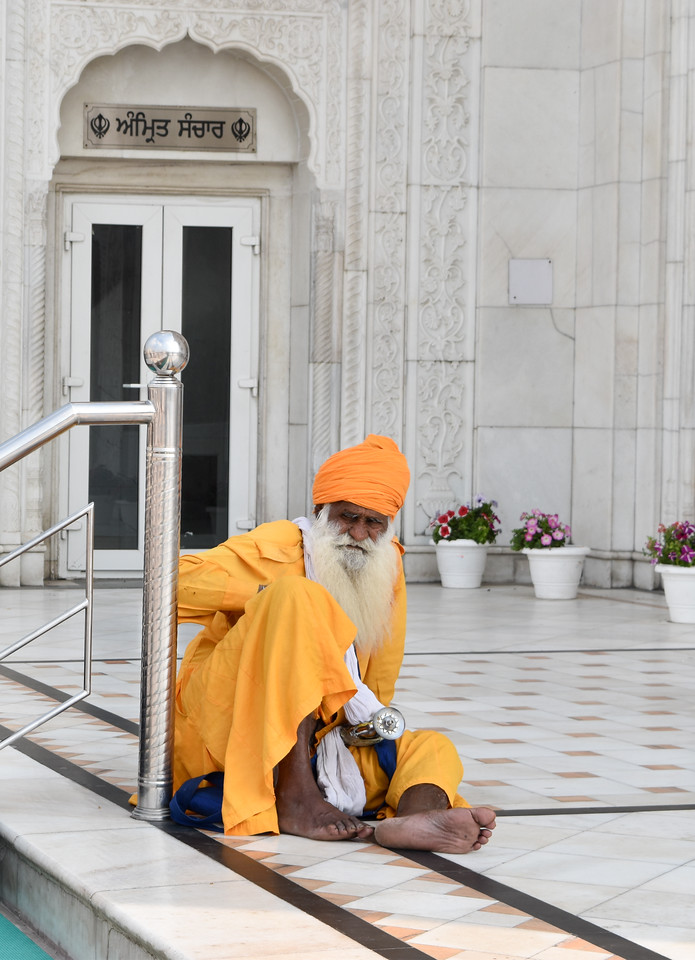 Elderly Sikh at the Temple
