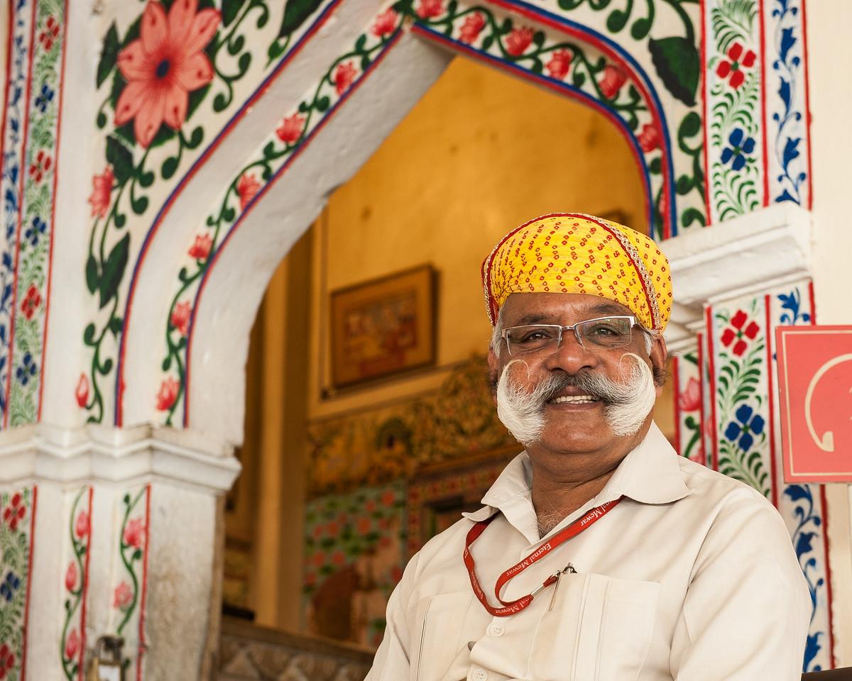 Guard at City Palace, Udaipur