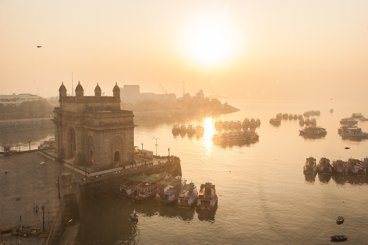 City Gate of Mumbai at Sunrise