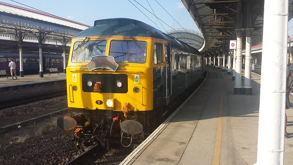 """47727 at York on the return Pathfinder Tours """"The Tees & Wear"""". 14.07.18"""