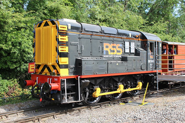 08580 at Ketton Cement Works on a BLS / PLEG charter.  01.07.18