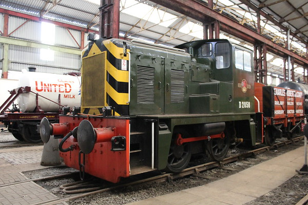 Class 02 D2858 inside the museum at Swanwick. 16.06.18